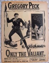 Only the Valiant (1951) - Gregory Peck | Vintage Trade Ad